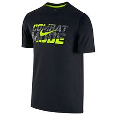 """The Nike Legend """"Combat Mode"""" T-Shirt combines sweat-wicking performance with """"Combat Mode"""" graphics to define your training intensity. Camisa Nike, Camisa Polo, Nike Outfits, School Outfits, Boys T Shirts, Tee Shirts, Under Armour Outfits, Nike Neon, Nike Wallpaper"""