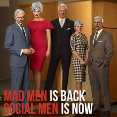 It's your job, I give you money, You give me ideas. #Madmen si back, #Socialmen is now