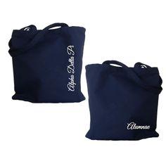 Alpha Delta Pi Alumnae tote bag with white lettering. Shop #AlphaDeltaPi Bag Collection. #Adpi