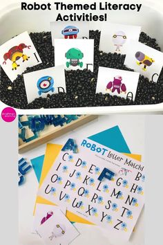 Beep Beep! Here come the robots! Use this robot themed printable math and literacy activity bundle to laugh and learn and work on kindergarten skills! #printableactivities #preschoolactivities #mathactivities #preschoolmath #printablepuzzles #education #kindergartenpuzzles #homeschoolactivities #numbersense #subitizingskills  #printablemathactivities #education  #literacyactivities #alphabet #printableliteracyactivities Printable Puzzles, Printable Activities For Kids, Alphabet Activities, Educational Activities, Math Literacy, Preschool Kindergarten, Kindergarten Activities, Letter Recognition, Robots