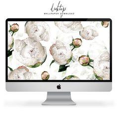 Free Desktop Wallpaper   lark & linen Free Desktop Wallpaper, Mobile Wallpaper, Dress Your Tech, Free Prints, Printable Invitations, Peonies, Free Printable, Backdrops, Bloom