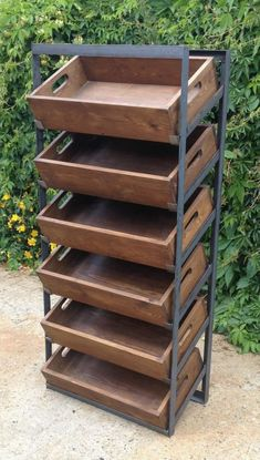 Retail display unit vintage industrial tote shelving freestanding or wallmounted in Home, Furniture & DIY, Furniture, Bookcases, Shelving & Storage
