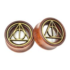 The Deathly Hallows Wooden Flesh Tunnel Plug Earing Jewelry Piercing Gauge Expander Ear Stretchers-in Body Jewelry from Jewelry & Accessories on Aliexpress.com | Alibaba Group