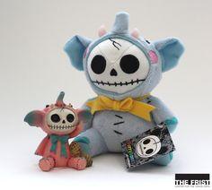 Monsters on the go--Furry Bones stuffed monsters: medium $10, small $7.95