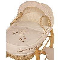 Clair de Lune Palm Moses Basket - Hush a Bye Baby - Crux Baby