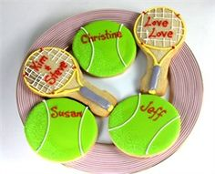 Tennis cookies...how easy are the balls?