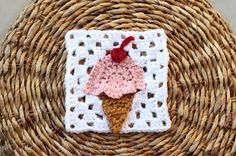 Sewrella: Ice Cream Cone Granny Square: Bake Shop Blanket