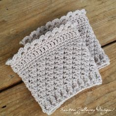 Ribbons and Grace Ladies Bootcuffs - free crochet pattern by Kirsten Holloway