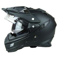 Matte Black Motocross Full Face Racing Helmet