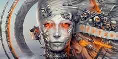 Dark Women  CGI Digital Art 3D Psychedelic Trippy Demon Abstract Wallpaper