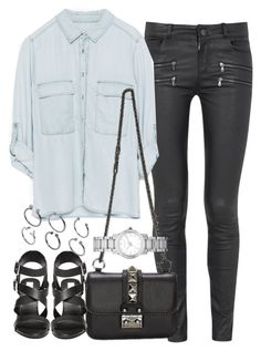 """""""Untitled #2908"""" by plainly-marie ❤ liked on Polyvore featuring Paige Denim, Zara, Voom, Burberry, Steve Madden and ASOS"""