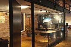 9mmedia's Office (NYC) - one can't have much too much glass.