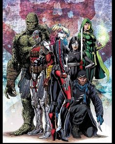Suicide Squad #1 variant cover by Jason Fabok colors by @psteigerwaldart…
