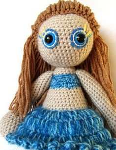 I love how the swimming top is crocheted into the doll (and the cornrows are a nice touch).
