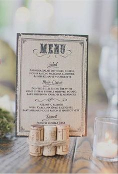 37 Creative Ways To Display Your Wedding Menu | Weddingomania - Weddbook