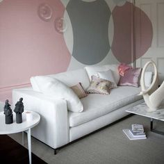 gray and soft pink living room 27 designs
