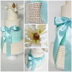 Magnolia Wedding Cake - by bakedincakedout @ CakesDecor.com - cake decorating website
