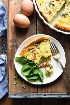 Vegetarian Quiche can be simple and perfect. Use this easy-to-follow recipe with culinary school tips to make it the best it can be!   foxeslovelemons.com