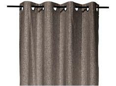 ... Anna bruin, linnen/viscose gordijnen xenos, grijs/wit/zwart/bruin More