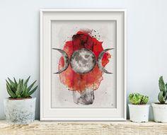 Mondphases Sacred Scarlet No1, Poster, Print, Kunstdruck, Artwork, Aquarell Mondphasen, Galaxy, Space, Astronomy, Mond, Universe von ArsMagnaDesign auf Etsy #etsyseller #arsmagnadesign #watercolor #handmade #interior #decor #einrichten #darkart #moonpases #mond #aquarell #witchcraft #luna #ancient #ritual #wicca #goth #pastelgoth #alchemy #symbol #mond #moon #art #mixedmedia #wacom #painting #sacred #sarlet #red #blutmond #medieval #morbid