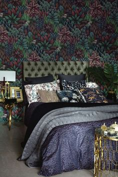 From bold colour and luxurious fabrics to metallics and detailed pattern, maximalism is without doubt one of this year's biggest interior trends. For the bedroom, layer up with bold prints and patterned wallpaper for a standout look. (Photo: Biba at House Small Bedroom Interior, Master Bedroom Design, Luxury Interior, Modern Interior Design, Modern Bedroom, Contemporary Interior, Luxury Furniture, Modern Decor, Maximalist Interior