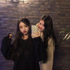Mode Ulzzang, Ulzzang Korean Girl, Ulzzang Couple, Korean Girl Photo, Cute Korean Girl, Asian Girl, Best Friend Pictures, Friend Photos, Ulzzang Girl Fashion