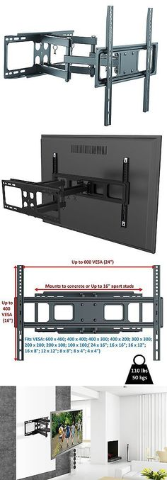 Recessed In Wall TV Wall Mount - Turn 60 inch TVs 90 degrees to the wall  See details: http://www.av-express.com/in-wall-tv-mounts | home makeover ...
