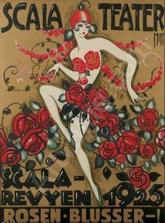 Poster by Orla Muff (1903-1984), 1925, Scala Revyen, Scala Teater. (Denmark)