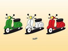 Ci piace l'Italia #vespa #fundesing #illustration Pony3D