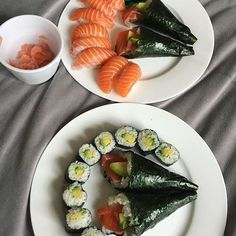 Sushi Time At O-Sushi by @littleglutard
