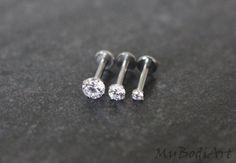Tragus cristal boucle d'oreille Tragus Stud Cartilage par MyBodiArt