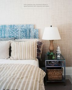 headboard-not the fabric but the shape & layered look might work