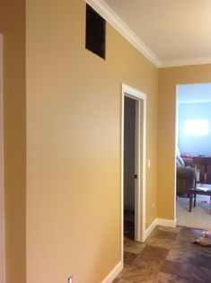 11/22/2014: Sherwin Williams stonebriar - good image of how it looks on the walls.  I really like this shade of gold, not too dark or too yellow. Good for our living room/dining room.