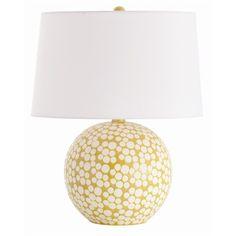 Zoey Matte White/Mustard Dot Glaze Porcelain Lamp