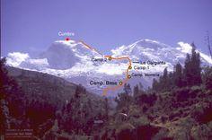 Huascarán Norte, ruta normal