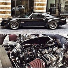 The @skippyzgarage Built '78 Trans Am with a couple of Turbos  #Pontiac #TransAm #MuscleCar #ClassicCarsWorld