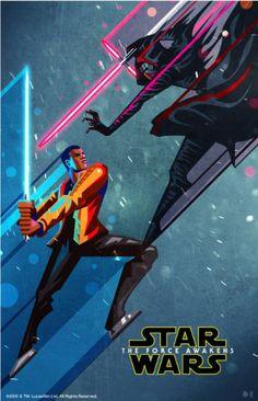 Star Wars: The Force Awakens \\ 'Finn + Kylo Ren' Poster