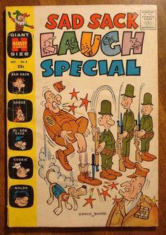 Sad Sack Cartoon | Sad Sack Laugh Special #6 (1960) comic book, Harvey comics, VG ...