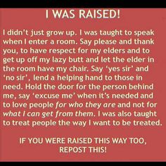 If you were raised this way too, repin this!