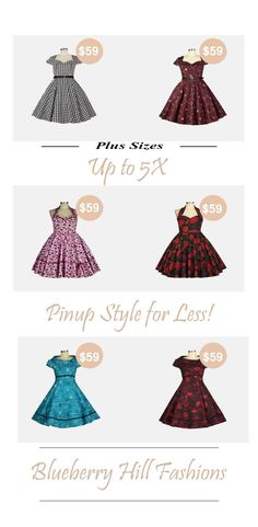 Gorgeous pinup dresses Rockabilly Outfits, Rockabilly Fashion, Retro Outfits, Retro Fashion, Rockabilly Clothing, Rockabilly Style, Steampunk Store, Plus Size Rockabilly, Fotografia Tutorial