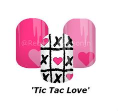 Let's play a game with love. #love #hearts #heart #Valentinesday #ValentinesNails #tictactoe #nas #jamberry #nails #rebeckapearsonjn #nailart
