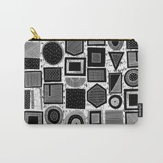 frisson memphis bw inverted Carry-All Pouch by Sharon Turner | Society6