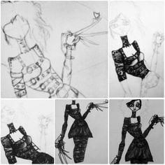 Versão feminina =D #scissorhands #girl #draw #ilustracao #drawing #desenho #illustration #stabilo #meupersonagemfavorito #inlove #film #edwardscissorhands #timburton #ilove