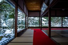 Alone in the snow (Housen-in temple, Kyoto) by -Marser- on flickr. Taken February 9, 2014. This is such a beautiful temple, one of my favourites
