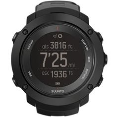 Suunto Ambit 3 Vertical - Black is more than just a multisport GPS watch. Follow the altitude profile of your route while working your way up mountains.