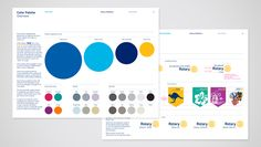New Logo and Identity for Rotary by Siegel+Gale (color palettes)