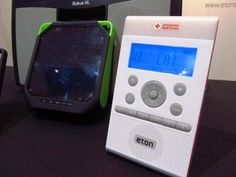 Unvieled at CES 2013, the Eton ZoneGuard emergency clock radio not only alerts you to bad weather, it also works as a solar-powered speaker! Take it outside on sunny days to soak up the sun and listen to music while it recharges itself. #2013CES
