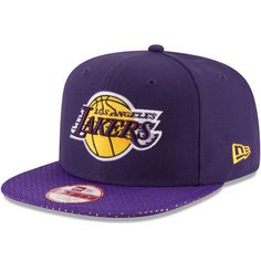6dc648a8f198c Men s Los Angeles Lakers New Era Purple Shine Through 9FIFTY Adjustable Hat