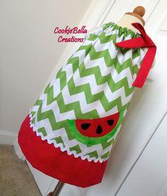 Gorgeous Watermelon Chevron Pillowcase by CookieBellaCreations, $26.00