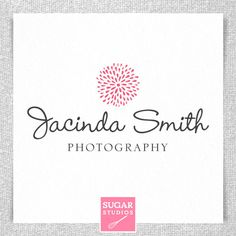 Modern photographer logo with abstract dandelion